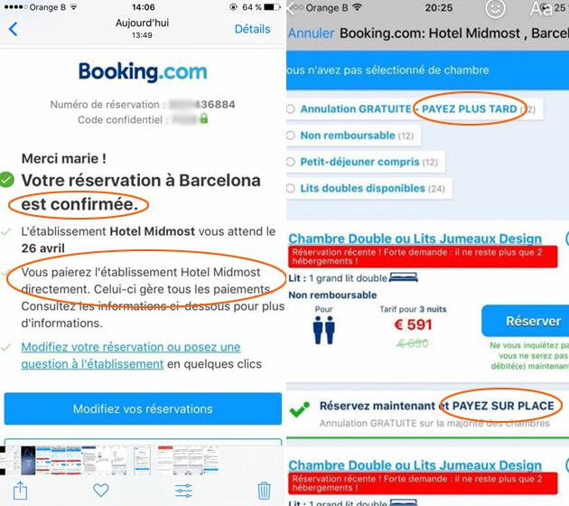 Reservation h tel paiement sur place for Paiement en ligne hotel