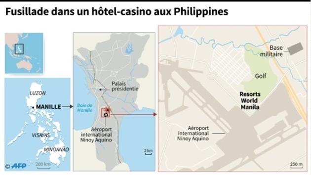 L'attaque du casino qui a fait 36 morts n'est pas terroriste — Philippines