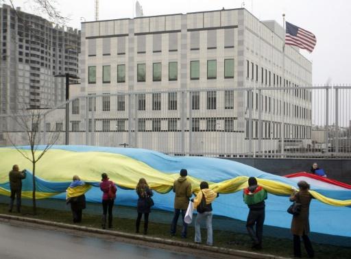 L'ambassade américaine à Kiev visée par une explosion — Ukraine
