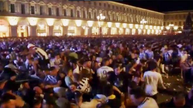 Mouvement de panique à Turin: décès d'une femme blessée