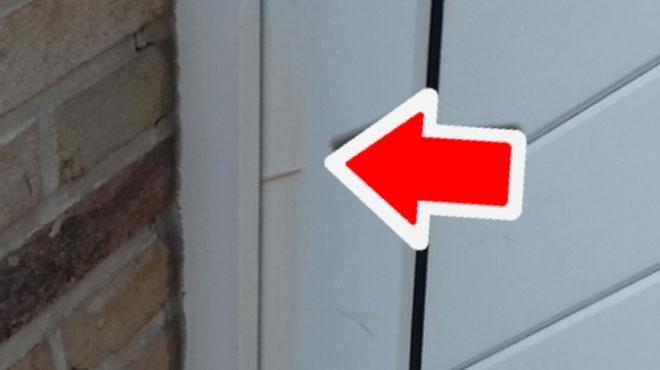 Vous avez découvert un cure-dent coincé dans votre porte? La police vous met en garde