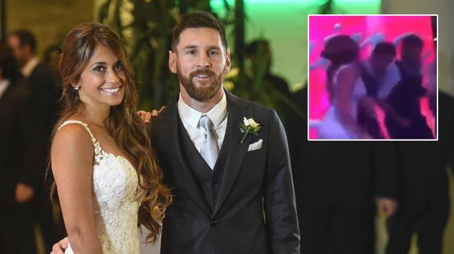 Lionel Messi, un mariage royal et un baiser… très étrange, Regardez — Vidéo