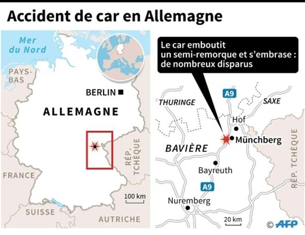 Accident de bus dans le sud de l'Allemagne, 17