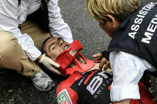 Abandon de l'Australien Richie Porte après une terrible chute — Tour de France