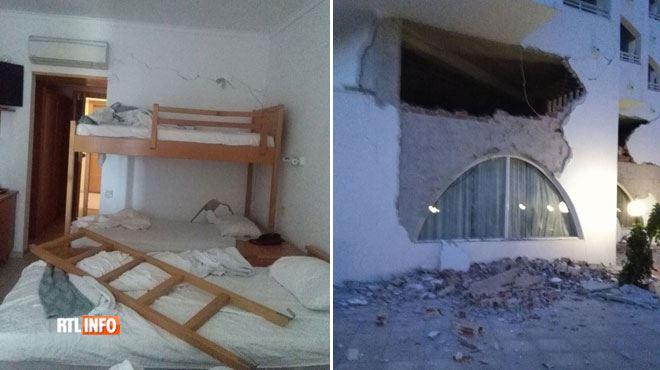 Les vacanciers belges qui séjournaient au Continental Palace, l'un des hôtels les plus abîmés par le séisme à Kos, sont rapatriés 1