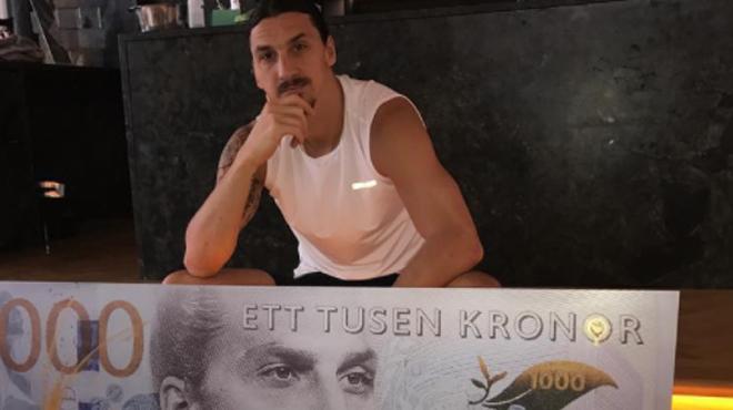 Zlatan Ibrahimovic apparait sur un billet de banque (Photos) — Suède
