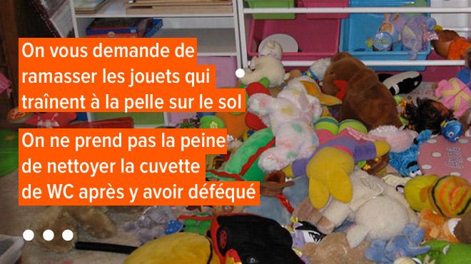 LA LISTE d'une femme d'ouvrage à Liège: voici les principaux manques d'attention qu'elle subit