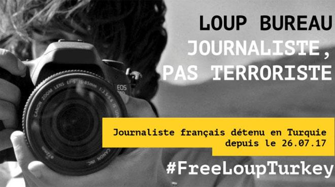 Mobilisation pour la libération du journaliste français Loup Bureau incarcéré en Turquie