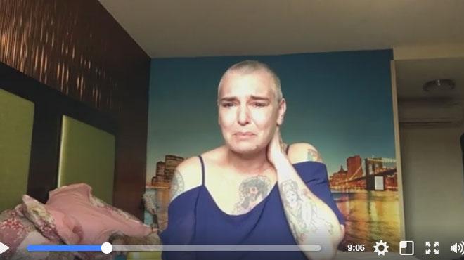 Une inquiétante vidéo de Sinead O'Connor