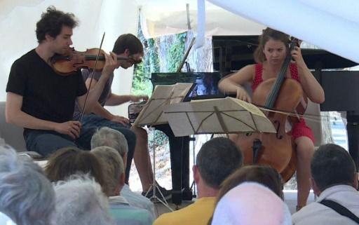 A la Roque d'Anthéron, le Trio Metral en master class de musique de chambre