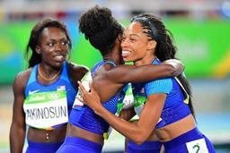 Le relais 4x100m féminin américain signe le meilleur temps de l'année en séries