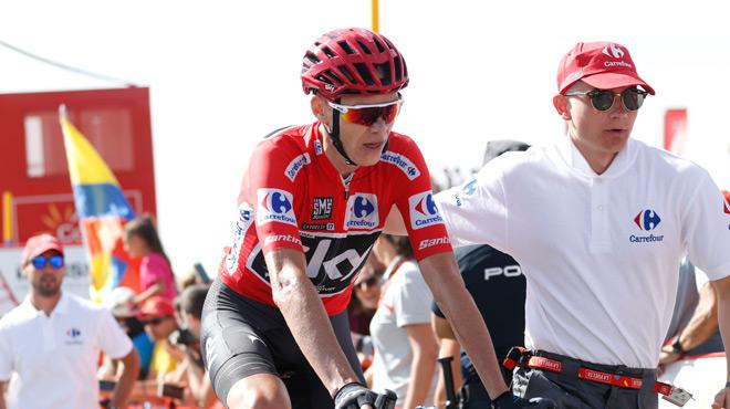 Vidéo - Tour d'Espagne : le vélo de Christopher Froome avance tout seul