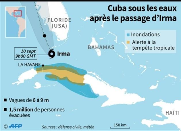 Cuba sous les eaux après le passage d'Irma- Anella RETA