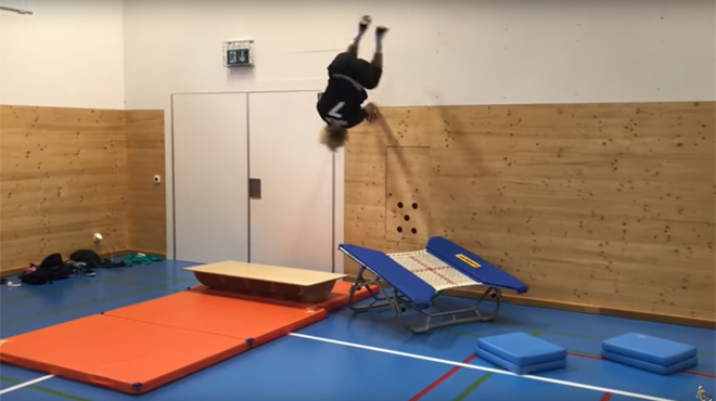 L'entraînement incroyable d'Andri Ragettli — En vidéo